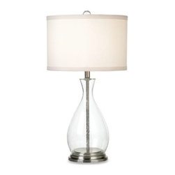 Pacific Coast Lighting - Pacific Coast Lucidity Table Lamp - Sleek, modern and right in style. This unique lamp showcases an open see-thru glass body.