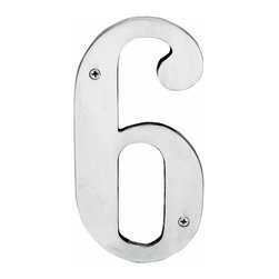 Renovators Supply - House Numbers Chrome House Number | 12768 - House numbers: Crafted of chrome over solid brass- these die cast numbers measure 8 in. high. Beautiful chrome will withstand the test of time. Includes 2 screws for mounting and 2 wall anchors.