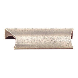 """Renovators Supply - Bin Pulls Antique Solid Brass Distressed Cabinet Bin Pull - Antique Drawer Pulls. This unusual antique brass drawer bin pull has two sets of holes on the back of each side so the boring can be 2-3/4"""" or 3"""".  The bin pull itself is 3-5/8"""" long, 7/8"""" high and projects 1"""" from the drawer. Sold individually."""