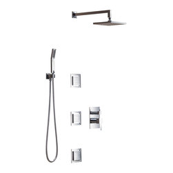 Inolav - Ezio Shower Set - Three Functions, Polished Chrome - Feel the difference of our ultra smooth finishes on a 6mm thick solid brass wall plate. Cleverly engineered to give you a low profile handle and plate design while offering a super heavy duty and top quality valve components.