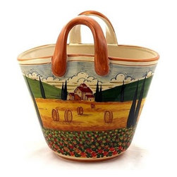 Artistica - Hand Made in Italy - Paesaggio Toscana: Handbag Vase - Paesaggio Toscana: