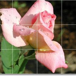 Picture-Tiles, LLC - Flower Photo Shower Tile Mural F061 - * MURAL SIZE: 18x24 inch tile mural using (12) 6x6 ceramic tiles-satin finish.