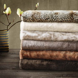 Madison Park - Madison Park Signature Luxury Faux Fur Throw in Gift Box - The faux fur is exceptionally soft and lofty and it has the warmth and texture of real fur. It adds a glamorous accent to your home. This blanket comes in an array of animal prints and is machine washable for easy care.