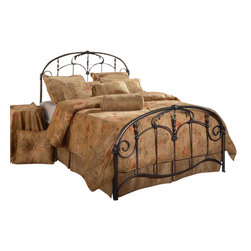 Hillsdale Furniture - Hillsdale Jacqueline Panel Bed - Full - The Jacqueline bed recalls an era of gilded excess. From the ornate spindles to the embellished scrollwork and castings, this design is uniquely detailed. The Jacqueline bed is delightful to behold.