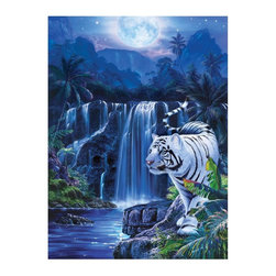Masterpieces - Masterpieces Glitter Moonlit Tiger Puzzle Multicolor - 31235 - Shop for Puzzles from Hayneedle.com! About Masterpieces Puzzles & GamesFor the past 17+ years Masterpieces has delighted kids and parents. From art kits to puzzles of all levels Masterpieces ensures playtime activities that develop cognition as much as they foster fun. All Masterpiece items are tested for safety and this company is definitely eco-minded: All of their puzzles are manufactured using board with 100% recycled post-consumer materials their puzzle sheets wraps and catalogs are printed with soy-based inks and even included storage bags are biodegradable. Quality mindful products are what you can expect from Masterpieces.