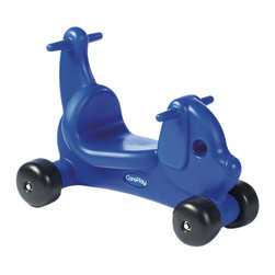 Foundations - Careplay Kids Baby Walker Toy Accessory Ride on Play Puppy Critter - Blue - Versatile and well designed, these cute relatable characters will provide hours of fun and exercise for your little ones. Heavy-duty axles and wheels hold up to 200 pounds. Handle on tails allow ride-on to be used as a walker. Low seat makes climbing on and dismount easy. Created specifically for a multi-child environment. Perfect for indoor and outdoor use. Bright colors are molded in and will not chip or peel. Recessed wheel hubs will not poke or scratch riders.