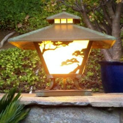 Torrey Pine Craftsman Lantern - Part of our Westmoreland Place Series this solid brass lantern is available in 3 sizes with multiple finish and glass options.