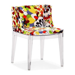 Zuo Modern - Zuo Modern Pizzaro Dining Chair, Multicolor, Set of 2 - People will go wild over the Pizzaro dining chair's vivid color and style. A funky piece made with a soft cushion seat and polycarbonate base.