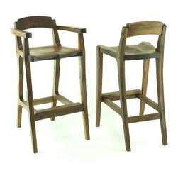 Bar Stool - Not so sculpted bar stools available in most species of timber and different heights.