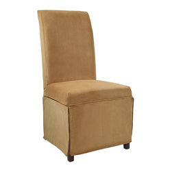 """Powell - Powell Butternut Gold Velvet Skirted """"Slip Over"""" Slipcover X-Z462-147 - Designed exclusively for our """"Slip Over"""" Seating, this soft, inviting slipcover retains its smooth fit and removes easily for cleaning or changing. The Butternut Gold Velvet Skirted """"Slip Over"""" is a great way to make your existing furniture new and different. Featuring Butternut Gold Velvet solid pattern fabric - 70% polyester, 30% rayon, this """"Slip Over"""" is appealing and attractive and would make a great addition to your home.  For use with 741-440 chair."""