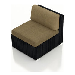 Urbana Modern Outdoor Sectional Middle, Beige Cushion