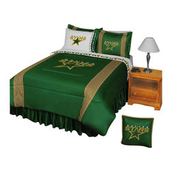 Store51 LLC - NHL Dallas Stars Hockey Team Twin-Single Bed Comforter Set - Features: