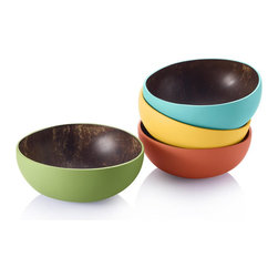 Reclaimed Coconut Shell Bowls by Bambu -