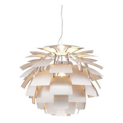 Zuo Modern Photon Ceiling Lamp Aluminum - Like a flower blooming in the sun, the Photon ceiling lamp's aluminum petals blossom around a chrome body. The lamp is UL approved. The height is fully adjustable.