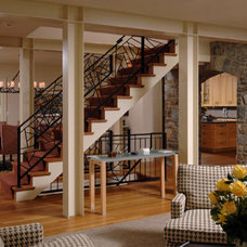 Eclectic Staircase by Stoiber and Associates Architects, PC