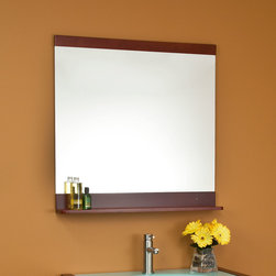 """32"""" Garrick Mirror - Be it bath or entryway, the 32"""" Garrick Mirror brings straight-forward style to any room of your home."""