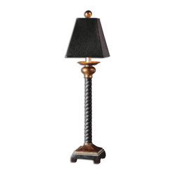 Bellcord Black Buffet Lamp