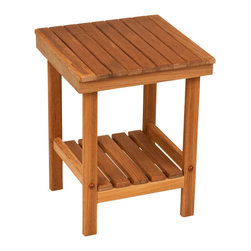 """TEAKWORKS4U - Teakworks4u Mini Rigid Teak Shower Bench,12-1/2""""L x 12-1/2""""W x 16""""H,Each - Teakworks4u Mini Rigid Teak Shower Bench is ideal for small spaces. It has plenty of room for toiletries, plants and for many other multi-purposes. It comes fully assembled and ready to use right out of the box."""