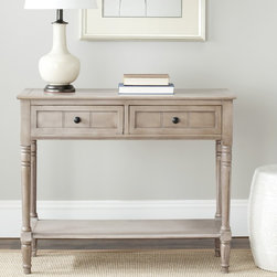 Safavieh - Safavieh Cape Cod Grey 2-drawer Console Table - Cape Cod grey 2-drawer console table features a contemporary style and functional design. Constructed with a sturdy wood frame in a versatile grey hue, this will be a welcome addition as an accent showcase piece in any room.