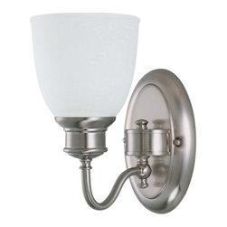 "Nuvo Lighting - Nuvo Lighting 60/2795 Single Light Reversible Lighting 5.5"" Wide Bathroom Fixtur - *Single light reversible lighting bathroom fixture featuring frosted linen glass"