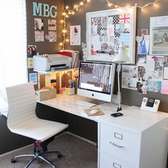 eclectic home office Jen's Office studio
