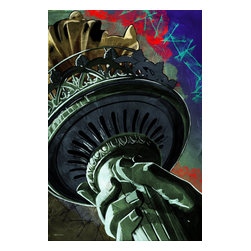 """Maxwell Dickson - Maxwell Dickson """"Statue of Liberty"""" New York Graffiti Pop Art Canvas Print Artwo - We use museum grade archival canvas and ink that is resistant to fading and scratches. All artwork is designed and manufactured at our studio in Downtown, Los Angeles and comes stretched on 1.5 inch stretcher bars. Archival quality canvas print will last over 150 years without fading. Canvas reproduction comes in different sizes. Gallery-wrapped style: the entire print is wrapped around 1.5 inch thick wooden frame. We use the highest quality pine wood available."""
