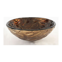 Pegasus - Coral Round Vessel Sink - GVSCORBRZ (Bronze) - Color: BronzeManufacturer SKU: GVSCORBRZ. ADA compliant. Made from tempered glass. 16.5 in. Dia. x 6.6 in. H (16 lbs.)