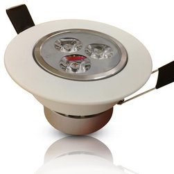 TorchStar - 3Watt LED Recessed Ceiling Downlight- Built-in AC85-265V Driver, Cool White - Overview