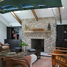 Eclectic Family Room by Geneva Cabinet Company