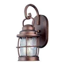 "Kenroy Home - Kenroy Home 90951 1 Light Outdoor Wall Sconce from the Beacon Collection - *Wall sconce with clear ridged glassExtends: 7""1 100w medium base bulb requiredBackplate width 4 5/8"" x 8"" in height"