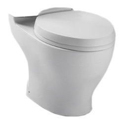Toto - Toto CT416#11 Colonial White Aquia II Dual Flush Toilet Bowl Only - The retangular build and modern styling of the Aquia series will bring a contemporary feel and beautiful look to any bath.