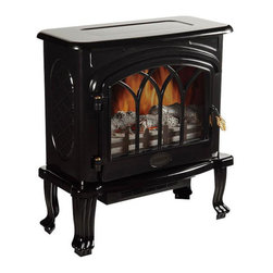 Best Green Technologies - Infrared Adjustable Heater Black Finish - Cozy up to this wood burning stove style heater, and gain all the comfort and warmth of that cabin feeling, without the smoke and chopping! This beautifully designed two speed infrared heater is completely adjustable for maximum comfort, and comes in a lovely black finish.