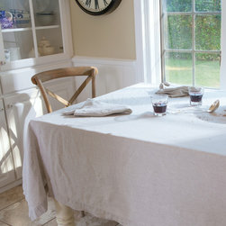Natural Pre-Washed Linen Tablecloth - Sometimes there can be no better backdrop than the finest natural Italian linen.