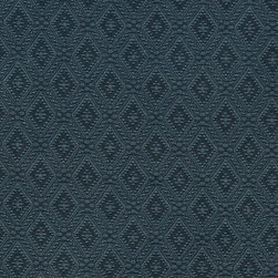 Blue Connected Diamonds Woven Matelasse Upholstery Grade Fabric By The Yard - This material is great for indoor upholstery applications. This Matelasse is rated heavy duty, and is upholstery weight. It is woven for enhanced appearance.