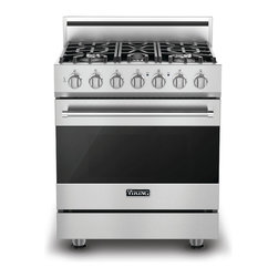 """Viking 3 Series 30"""" Gas Self Clean Range, Stainless Natural Gas 
