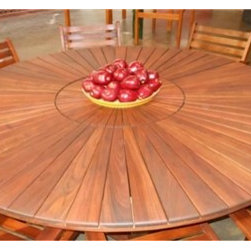 EX Design Tzalam Wood Collection - Lazy Susan Round Tables -