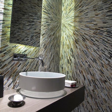 Contemporary Powder Room by Domatica