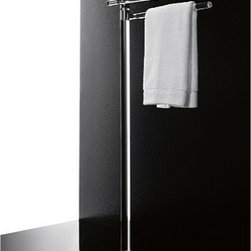 Toscanaluce - Free Standing Plexiglass Towel Stand With Chrome Base - Unique, modern design free standing plexiglass towel stand. Stylish towel stand is made out of clear plexiglass with chromed brass base. Made in Italy by Toscanaluce. Unique, modern design free standing adjustable towel stand. Stylish towel stand made out of plexiglass with chromed brass base. From the Toscanaluce Orchidea Collection.