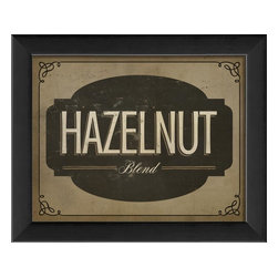 The Artwork Factory - Hazelnut Blend Framed Sign - Made in the USA.
