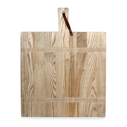 Frontgate - Driftwood Square Cutting Board - Non-Personalized - 100% sustainably grown and harvested North American ash wood. Every handmade piece bears the J.K. Adams signature. Hand wash with dish soap; maintain finish with food-safe wood oil every few months. A functional heirloom that will pass from party to party and generation to generation, our Medium Driftwood Square Cutting Board is crafted by the renowned woodworkers of the J.K. Adams Co. in Dorset, Vermont. Handmade to resemble the rustic woodcrafts that graced the New England village during its 1761 incorporation, the board features strips of North American ash wood finished with driftwood teak oil. It offers an ideal size for serving cheese and other hors d'oeuvres.. . . Made in the USA.