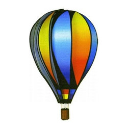 "Premier Kites & Designs - Premier Designs 22"" Balloon Wind Spinner, Sunset Gradient, PD25771 - Premier Hot Air Balloons spin anywhere the wind blows. Hot Air Balloons are the perfect addition to a garden, deck, or patio. The Sunset Gradient will add a very colorful splash to any backyard. Specifications Overall Width  22 in. Overall Height  26 in. Overall Deep  22 in. Spinner Diameter  22 in. Construction  Plastic  Origin Country  China"