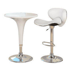 Sonax - Sonax CorLiving 3 Piece Height Bar Table Pub Set in White - Sonax - Pub Sets - T411BADB512VPD3PcPubSet