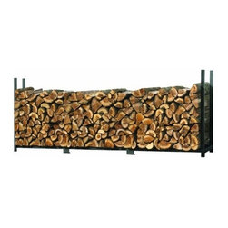 Maxsa Innovations - Ultra Duty Firewood Rack Without Cover, 8 Ft./2.4 M - U-Channel Tube Design: Ultra Duty 1 x 2 in. / 2,5 x 5,1 cm Rectangular U-Channel Tube delivers optimal strength and stability.