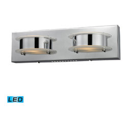 Elk Lighting - Northholt Chrome LED Two Light Bath Fixture - - Bulb Included: Yes Elk Lighting - 81011/2