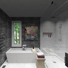 Contemporary Bathroom by NathalieTremblay - Atelier Cachet
