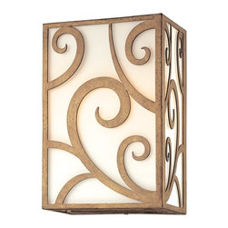 Troy Lighting - Troy Lighting Pierre Transitional Wall Sconce X-1572B - This stunning transitional wall sconce features a rectangular design that adds a simple but elegant touch to your home. The artesian quality glass diffuses the light to create a soft and welcoming glow while the lavish scrollwork turns this wall sconce into a true work of art. This light is perfect for nearly any space I your home, such as hallways or living spaces.
