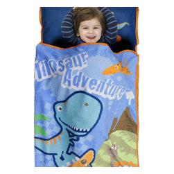 Betesh Group - Dino Adventure Nap Mat - Skateboarding Dinosaur Slumber Roll - FEATURES: