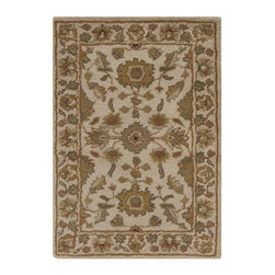 Surya - Surya Crowne Traditional Hand Tufted Wool Rug X-5121-1106NRC - With soft and beautiful traditional design details, the Crowne Collection creates a lasting centerpiece that is unparalleled in style and value. Completely hand tufted and hand finished from the finest wool in India, each rug is a radiant treasure that will embellish your home.