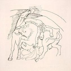 Pablo Picasso Estate Collection Taureau et Cheval Hand Signed with COA - PABLO PICASSO ESTATE COLLECTION