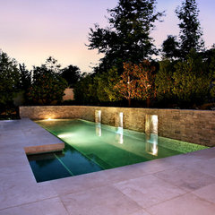modern pool by AMS Landscape Design Studios, Inc.
